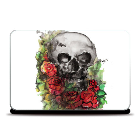 a skull symbolize our morality and death's relationship to life. Laptop Skins | Artist : amit kumar