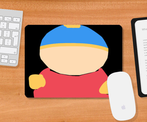 Eric Cartman South Park Minimal Sketch Doodle Artwork (Childhood/Cartoon) Mousepad | Artist : Looks Good = Feels Good