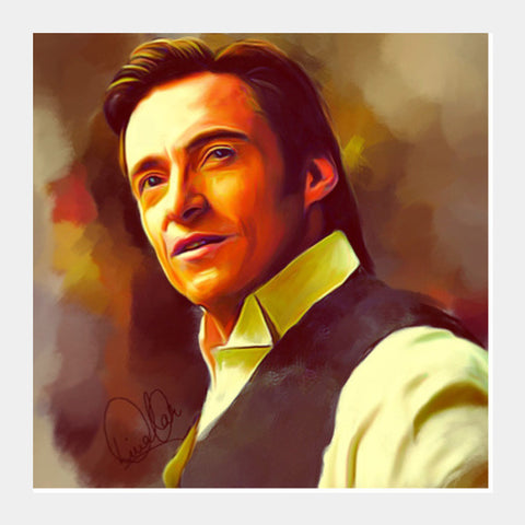 Hugh Jackman Square Art Prints PosterGully Specials