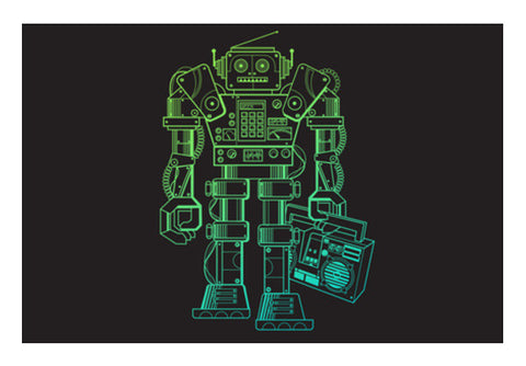 Wall Art, Music Robot Wall Art  | Artist : chetan adlak, - PosterGully