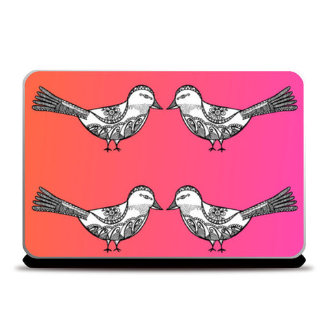 Bird Patterns Laptop Skins | Artist : Amulya Jayapal