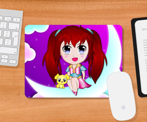 Mousepad, Cute Girl Mousepad | Artist : Madhumita Mukherjee, - PosterGully