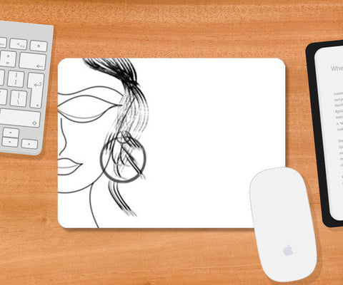 Paris Lady Mousepad | Artist : Srikanth R