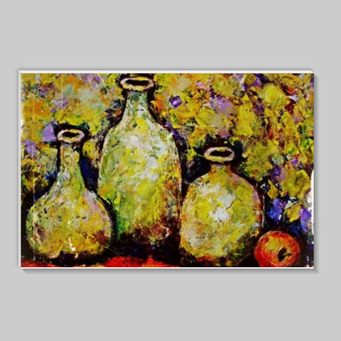 Bottles and Fruits Stick Ons | Artist : Raji Chacko classic paintings
