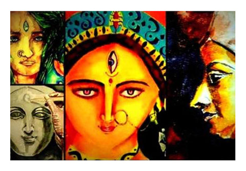 Wall Art, DURGA MA Wall Art  | Artist : abhrodeep mukherjee, - PosterGully