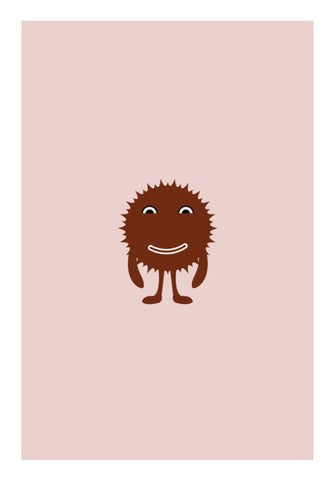 Adorable little brown cartoon vector design Wall Art | Artist : Mani Selvam