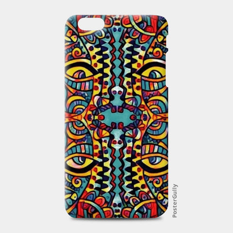 many faced iPhone 6 Plus/6S Plus Cases | Artist : Himani Chhabra