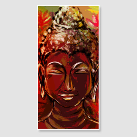 BUDDHA Buddhism teaches people that the real source of happiness is inner peace Door Poster | Artist : amit kumar