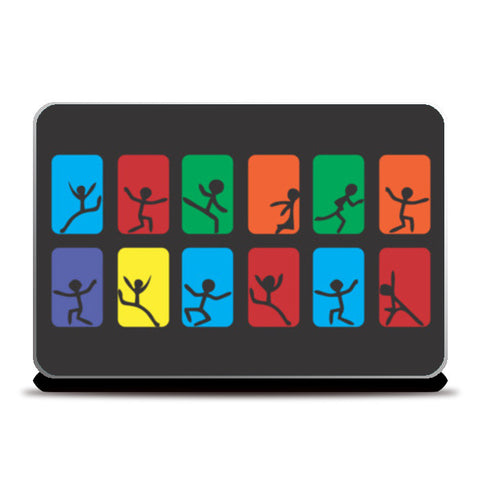 ESCAPE THE WORLD-BW Laptop Skins | Artist : Tiny Dots