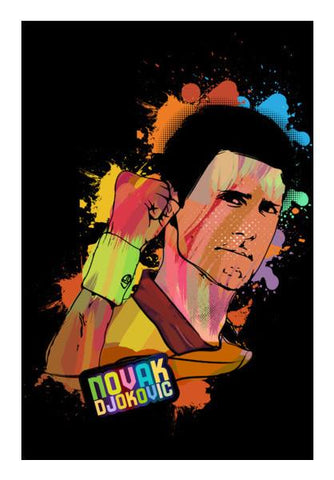 PosterGully Specials, Novak Djokovic Wall Art | Artist : Designerchennai, - PosterGully