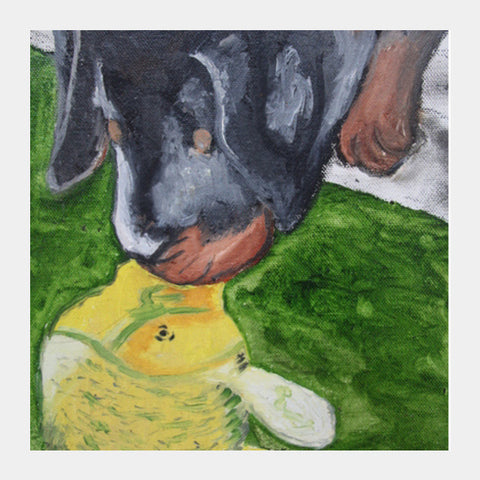 Puppy love @srijana's Square Art Prints | Artist : srijana giri