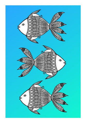 PosterGully Specials, Fish Patterns Wall Art | Artist : Amulya Jayapal, - PosterGully