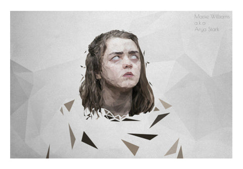 maisie williams arya stark minimalist polygon art Wall Art  | Artist : Shantanu Kumar