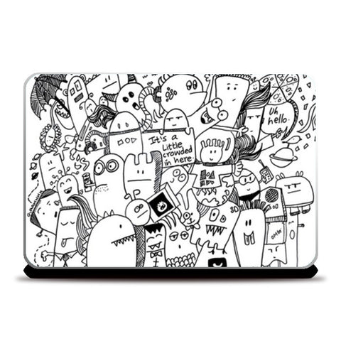 Monster Party Laptop Skins | Artist : Paper Planes