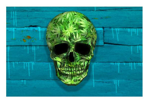 PosterGully Specials, Weed Skull Wall Art | Artist : Dr. Green | PosterGully Specials, - PosterGully