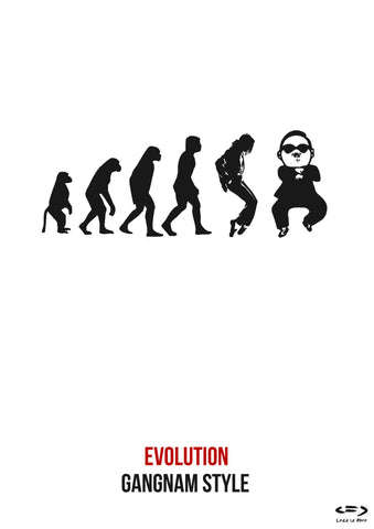 PosterGully Specials, Gangnam Style Evolution, - PosterGully