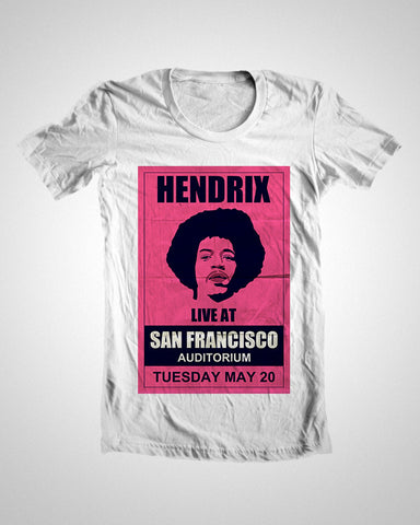 T Shirts, Hendrix Concert T-Shirt, - PosterGully