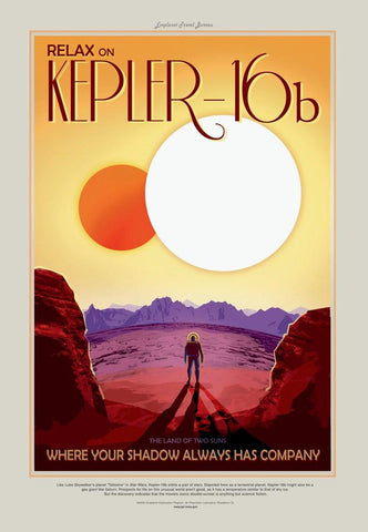 PosterGully Specials, Kepler-16b | Nasa Posters, - PosterGully