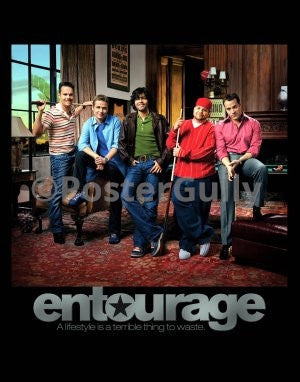 PosterGully Specials, Entourage | A Lifestyle is a terrible thing to waste, - PosterGully