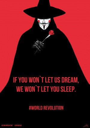 Wall Art, V for Vendetta, - PosterGully