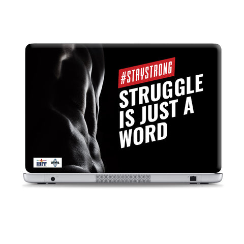 No Pain No Gain Laptop Skins | Artist : IHFF Olympia India