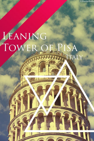 Wall Art, Leaning Tower of Pisa | Triangle, - PosterGully