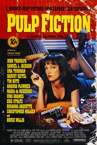 Wall Art, Pulp Fiction Cult Poster, - PosterGully