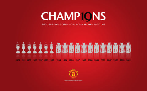 PosterGully Specials, Manchester United | 19 League Titles, - PosterGully