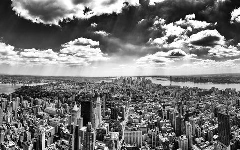 Wall Art, Panorama of Manhattan from Empire State Building, - PosterGully