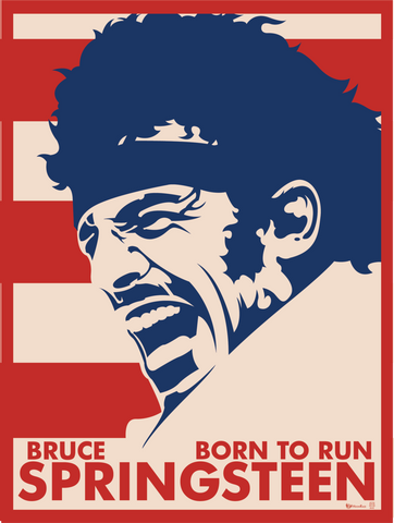 PosterGully Specials, Bruce Springsteen | Art Print, - PosterGully