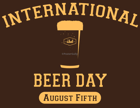 Wall Art, International Beer Day, - PosterGully