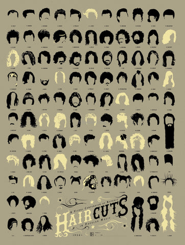 PosterGully Specials, Hair Cuts in Popular Music, - PosterGully