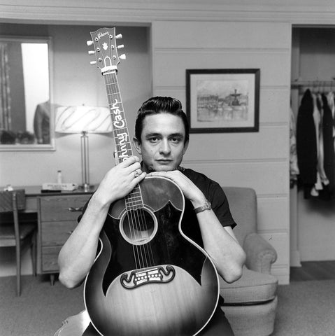 PosterGully Specials, Johnny Cash with Guitar, - PosterGully
