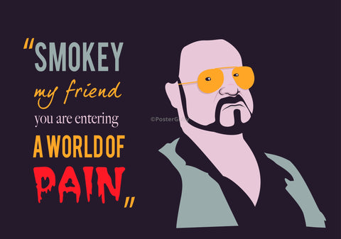 PosterGully Specials, Smokey | The Big Lebowski, - PosterGully