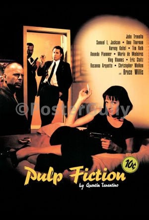PosterGully Specials, Quentin Tarantino | Pulp Fiction, - PosterGully