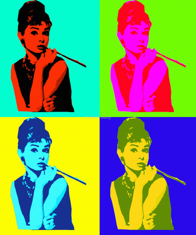 PosterGully Specials, Audrey Hepburn | Pop Art, - PosterGully