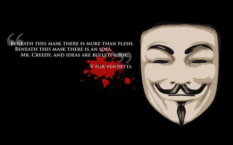 PosterGully Specials, V for Vendetta | Ideas Are Bulletproof, - PosterGully