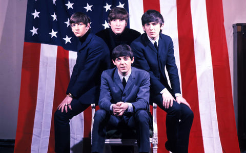 PosterGully Specials, The Beatles | U.S Flag, - PosterGully