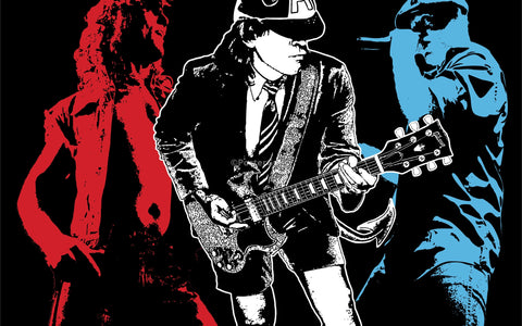 Wall Art, AC DC | Red, White & Blue, - PosterGully