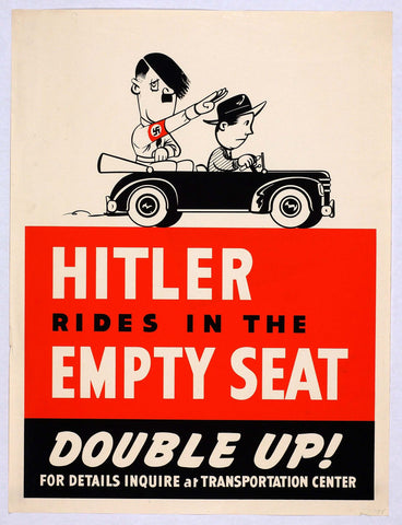 PosterGully Specials, Hitler Rides In The Empty Seat, - PosterGully