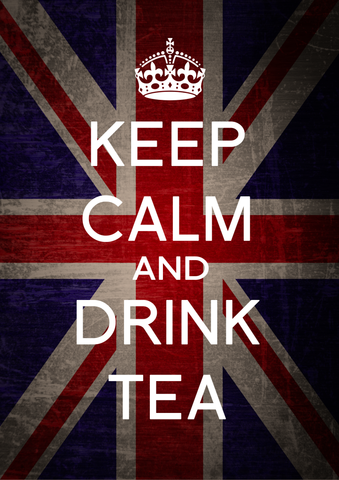 Wall Art, Keep Calm & Drink Tea, - PosterGully