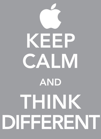 Wall Art, Keep Calm & Think Different, - PosterGully