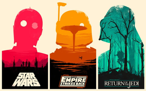 PosterGully Specials, Star Wars | Triptych, - PosterGully