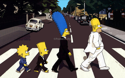 PosterGully Specials, Simpsons as Beatles | Abbey Road, - PosterGully