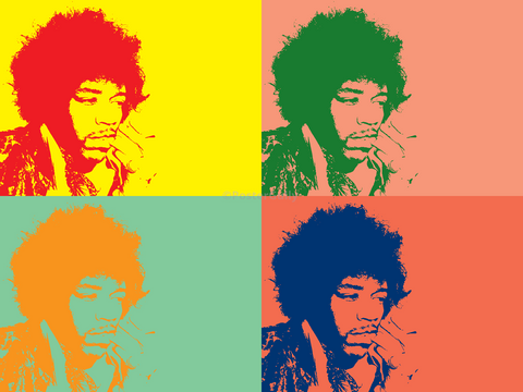 PosterGully Specials, Jimmy Hendrix | Pop Art Style, - PosterGully