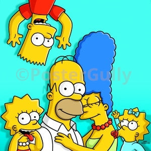 PosterGully Specials, The Simpsons | Family in  Blue, - PosterGully