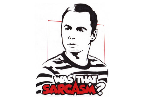 PosterGully Specials, Sheldon Cooper | Was That Sarcasm?, - PosterGully