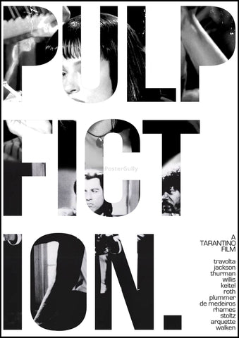 PosterGully Specials, Pulp Fiction | Minimal Art in B&W, - PosterGully