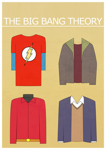 PosterGully Specials, Big Bang Theory | Minimal Art, - PosterGully