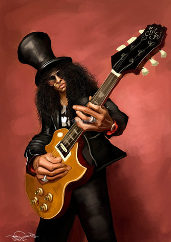 PosterGully Specials, Slash | Caricature Art, - PosterGully